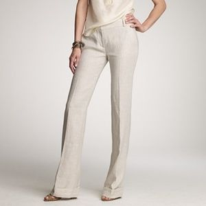 j crew collection hutton trouser in flax linen 033